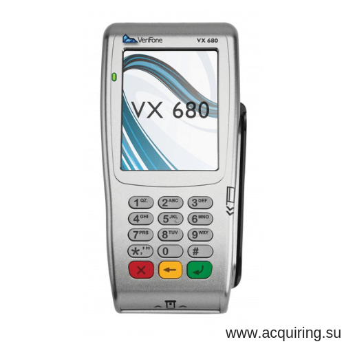 POS-терминал Verifone VX680 (Wi-Fi, Bluetooth), комплект Прими Карту в Иркутске